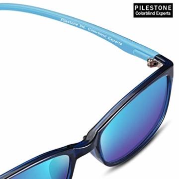 PILESTONE KINDER TP-030 (Typ B) farbenblinde Gläser für Kinder mit roter / grüner Farbenblindheit 6-10 Jahre - mäßiges, starkes und schweres Deutan und mäßiges, starkes Protan - 1