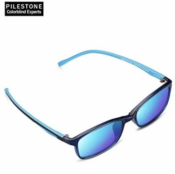PILESTONE KINDER TP-030 (Typ B) farbenblinde Gläser für Kinder mit roter / grüner Farbenblindheit 6-10 Jahre - mäßiges, starkes und schweres Deutan und mäßiges, starkes Protan - 5