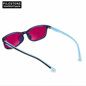 PILESTONE KINDER TP-030 (Typ B) farbenblinde Gläser für Kinder mit roter / grüner Farbenblindheit 6-10 Jahre - mäßiges, starkes und schweres Deutan und mäßiges, starkes Protan - 6