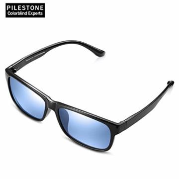 PILESTONE TP-020 Farbenblinde Brillen für Rot / Grün Farbenblinde für milde bis starke Deutan-Farbenblindtypen - 2