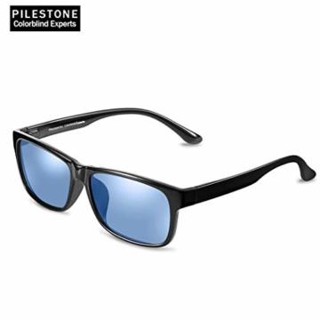 PILESTONE TP-020 Farbenblinde Brillen für Rot / Grün Farbenblinde für milde bis starke Deutan-Farbenblindtypen - 3