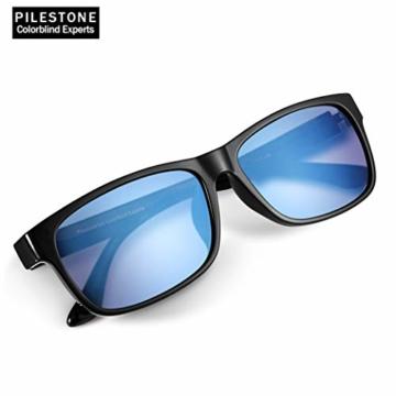 PILESTONE TP-020 Farbenblinde Brillen für Rot / Grün Farbenblinde für milde bis starke Deutan-Farbenblindtypen - 4