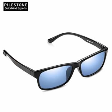 PILESTONE TP-020 Farbenblinde Brillen für Rot / Grün Farbenblinde für milde bis starke Deutan-Farbenblindtypen - 5
