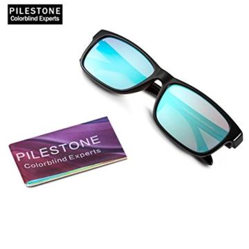PILESTONE TP-024 (Tippe A) farbenblinde gläser Color Blind Korrekturbrille für rote / grüne Farbenblindheit - Mildes, mäßiges und starkes Deutan und mildes, mäßiges Protan - 3