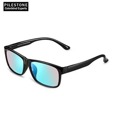 PILESTONE TP-024 (Tippe A) farbenblinde gläser Color Blind Korrekturbrille für rote / grüne Farbenblindheit - Mildes, mäßiges und starkes Deutan und mildes, mäßiges Protan - 4