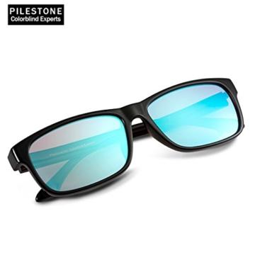 PILESTONE TP-024 (Tippe A) farbenblinde gläser Color Blind Korrekturbrille für rote / grüne Farbenblindheit - Mildes, mäßiges und starkes Deutan und mildes, mäßiges Protan - 1