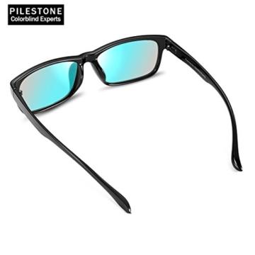 PILESTONE TP-024 (Tippe A) farbenblinde gläser Color Blind Korrekturbrille für rote / grüne Farbenblindheit - Mildes, mäßiges und starkes Deutan und mildes, mäßiges Protan - 6