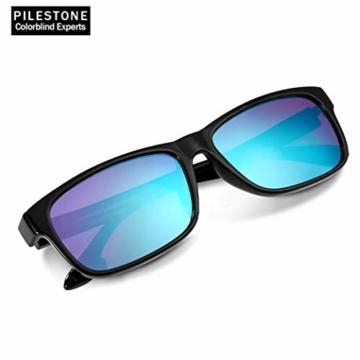PILESTONE TP-025 (Typ B) farbenblinde gläser Color Blind Korrekturbrille für rote / grüne Farbenblindheit - mittelstarkes, starkes und schweres Deutan und mittelstarkes, starkes Protan - 2