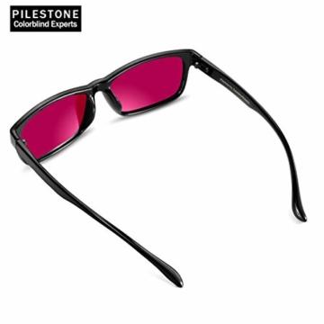 PILESTONE TP-025 (Typ B) farbenblinde gläser Color Blind Korrekturbrille für rote / grüne Farbenblindheit - mittelstarkes, starkes und schweres Deutan und mittelstarkes, starkes Protan - 3