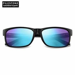 PILESTONE TP-025 (Typ B) farbenblinde gläser Color Blind Korrekturbrille für rote / grüne Farbenblindheit - mittelstarkes, starkes und schweres Deutan und mittelstarkes, starkes Protan - 1