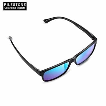 PILESTONE TP-025 (Typ B) farbenblinde gläser Color Blind Korrekturbrille für rote / grüne Farbenblindheit - mittelstarkes, starkes und schweres Deutan und mittelstarkes, starkes Protan - 4