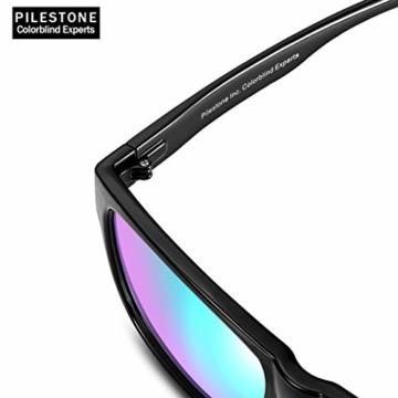 PILESTONE TP-025 (Typ B) farbenblinde gläser Color Blind Korrekturbrille für rote / grüne Farbenblindheit - mittelstarkes, starkes und schweres Deutan und mittelstarkes, starkes Protan - 5