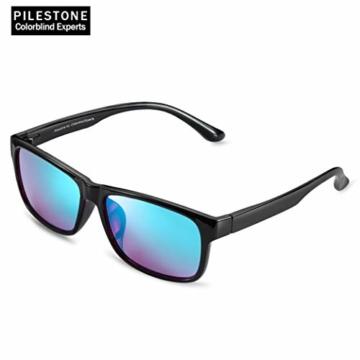 PILESTONE TP-025 (Typ B) farbenblinde gläser Color Blind Korrekturbrille für rote / grüne Farbenblindheit - mittelstarkes, starkes und schweres Deutan und mittelstarkes, starkes Protan - 6