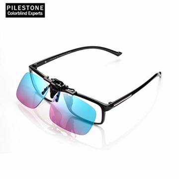 PILESTONE TP-029 (Typ B) farbenblinde Gläser Color Blind Korrekturbrillen Aufsteckgläser für Rot / Grün Color Blind - Mittel, stark und stark Deutan und Mittel, stark Protan - 2