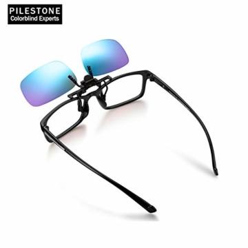 PILESTONE TP-029 (Typ B) farbenblinde Gläser Color Blind Korrekturbrillen Aufsteckgläser für Rot / Grün Color Blind - Mittel, stark und stark Deutan und Mittel, stark Protan - 3