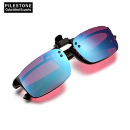 PILESTONE TP-029 (Typ B) farbenblinde Gläser Color Blind Korrekturbrillen Aufsteckgläser für Rot / Grün Color Blind - Mittel, stark und stark Deutan und Mittel, stark Protan - 1
