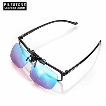 PILESTONE TP-029 (Typ B) farbenblinde Gläser Color Blind Korrekturbrillen Aufsteckgläser für Rot / Grün Color Blind - Mittel, stark und stark Deutan und Mittel, stark Protan - 4