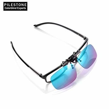 PILESTONE TP-029 (Typ B) farbenblinde Gläser Color Blind Korrekturbrillen Aufsteckgläser für Rot / Grün Color Blind - Mittel, stark und stark Deutan und Mittel, stark Protan - 5