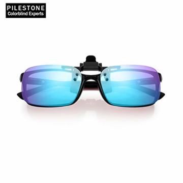 PILESTONE TP-029 (Typ B) farbenblinde Gläser Color Blind Korrekturbrillen Aufsteckgläser für Rot / Grün Color Blind - Mittel, stark und stark Deutan und Mittel, stark Protan - 6