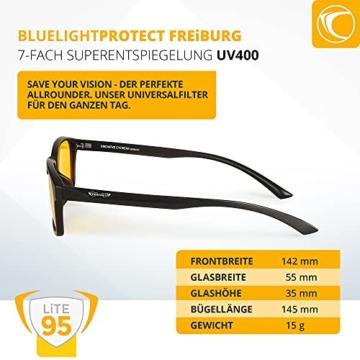 PRiSMA FREiBURG LiTE Blaulichtfilter-Brille - augenschonende Bildschirmarbeit bei Tag und Nacht - F704 N - 3