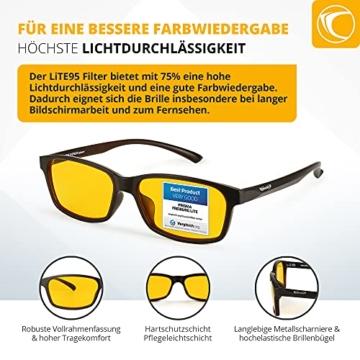 PRiSMA FREiBURG LiTE Blaulichtfilter-Brille - augenschonende Bildschirmarbeit bei Tag und Nacht - F704 N - 5