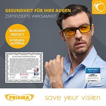 PRiSMA FREiBURG LiTE Blaulichtfilter-Brille - augenschonende Bildschirmarbeit bei Tag und Nacht - F704 N - 6