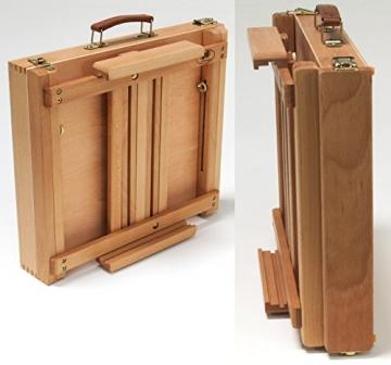 Professionelle Tischstaffelei aus Buchenholz (FSC®- zertifiziert), für Keilrahmen bis 80cm, Qualität vom Fachhändler, Sitzstaffelei - 2