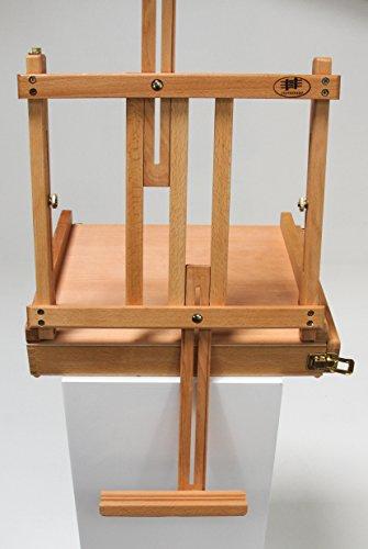 Professionelle Tischstaffelei aus Buchenholz (FSC®- zertifiziert), für Keilrahmen bis 80cm, Qualität vom Fachhändler, Sitzstaffelei - 3