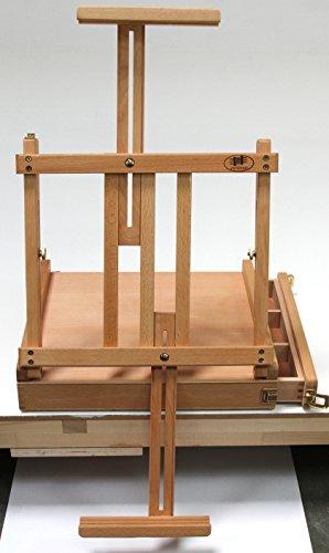Professionelle Tischstaffelei aus Buchenholz (FSC®- zertifiziert), für Keilrahmen bis 80cm, Qualität vom Fachhändler, Sitzstaffelei - 5