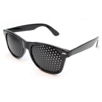 Raster-Brille/Loch-Brille für Augen-Training und Entspannung im 2er Set, Gitter-Brille mit faltbaren Bügeln, Form B - 2