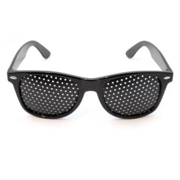 Raster-Brille/Loch-Brille für Augen-Training und Entspannung im 2er Set, Gitter-Brille mit faltbaren Bügeln, Form B - 3