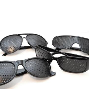 Raster-Brille/Loch-Brille für Augen-Training und Entspannung im 2er Set, Gitter-Brille mit faltbaren Bügeln, Form B - 4