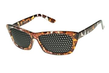 Rasterbrille 415-FMG - ganzflächiges Raster - braun marmoriert - 1