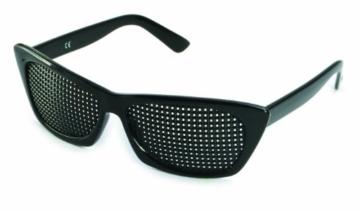 Rasterbrille 415-FSP - quadratischer Raster - schwarz - 1