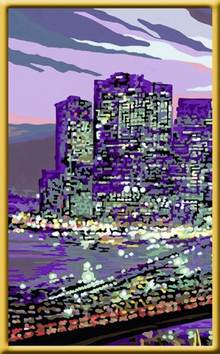 » Malen nach Zahlen: New York Skyline (100×40 cm)