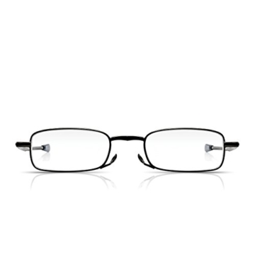 Read Optics faltbare Brille: Vollrand Lesehilfe in Stärke 1,5 Dioptrien für Herren/Damen. Mit Hartschalen-Etui, flexiblen Metall-Bügeln und Federscharnier. Hochwertige Gläser, schwarzer Rahmen - 4