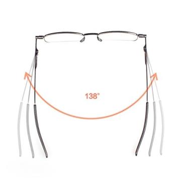Read Optics ultra flache Lesebrille in Stärke +2,0 Dioptrien. Für Herren/Damen inkl dünnem Hartschalen-Etui. Kompakt faltbare Brille mit Vollrand. Schlanke Reise-Lesehilfe mit lebenslanger Garantie - 2
