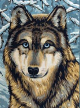 """REEVES Malen nach Zahlen 8+Jahre, """" Tiere"""" 30x23cm, 7 Farben, Motiv -  Wolf -"""