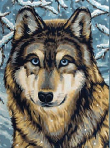 Malen Nach Zahlen Husky Wolf 30 23 Cm
