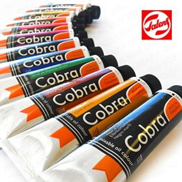 Royal Talens–Cobra Artist Wasser mischbare Ölfarben Art Set in Premium schwarz Geschenk-Box–mit Farben, Palette, und Pinsel - 2