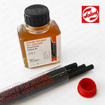 Royal Talens–Cobra Artist Wasser mischbare Ölfarben Art Set in Premium schwarz Geschenk-Box–mit Farben, Palette, und Pinsel - 4