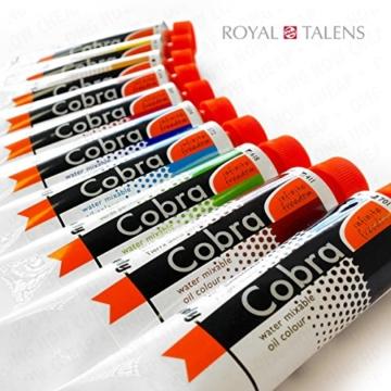 Royal Talens–Cobra Wasser mischbare Ölfarben Art Set im Premium Holz Fall–mit Farben, Palette, und Pinsel - 2