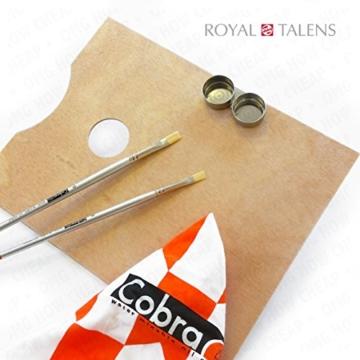 Royal Talens–Cobra Wasser mischbare Ölfarben Art Set im Premium Holz Fall–mit Farben, Palette, und Pinsel - 3