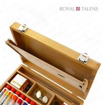 Royal Talens–Cobra Wasser mischbare Ölfarben Art Set im Premium Holz Fall–mit Farben, Palette, und Pinsel - 5