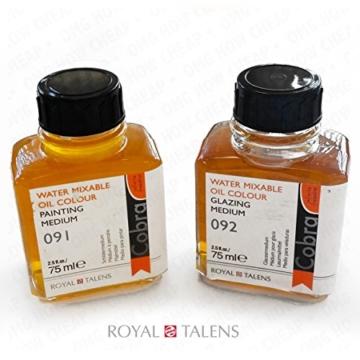 Royal Talens–Cobra Wasser mischbare Ölfarben Art Set im Premium Holz Fall–mit Farben, Palette, und Pinsel - 6