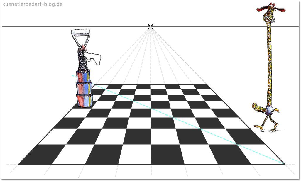schachbrett perspektivisch zeichnen tutorial teil 2. Black Bedroom Furniture Sets. Home Design Ideas