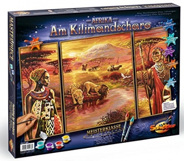 Schipper 609260438 - Malen nach Zahlen - Afrika am Kilimandscharo, 50x80 cm -