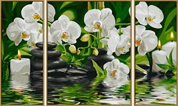 Schipper 609260681 - Malen nach Zahlen - Wellness Oase, Triptychon, 50 x 80 cm -
