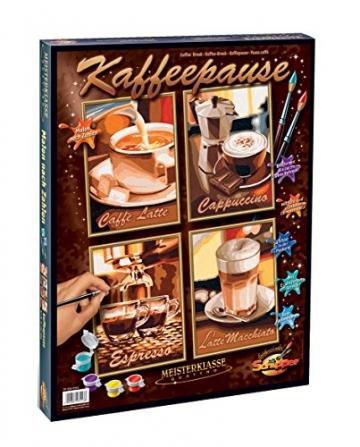Schipper 609340553 - Malen nach Zahlen - Kaffeepause (Quattro), je 18x24 cm -