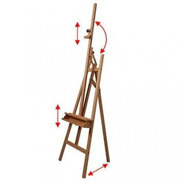 Schmincke Atelier-Staffelei S1 - aus Buche-Holz massiv - hochwertige Staffelei mit Malablagen für Ihr Künstler-Bedarf - 2